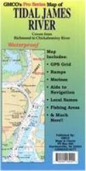 Tidal James River Chart & Fishing Map by GMCO Maps & Charts