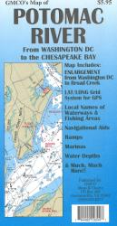 Potomac River Chart & Fishing Map by GMCO Maps & Charts