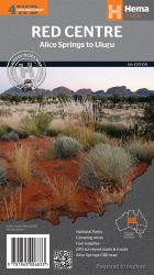 Red Centre, Australia, Alice Springs to Uluru (4WD Explorer Map) by Hema Maps