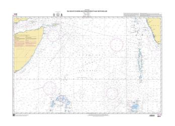Gulf of Aden to Maldives nautical chart by SHOM