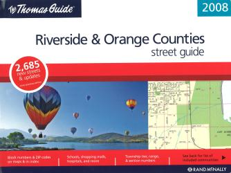 Riverside and Orange Counties, California by Rand McNally