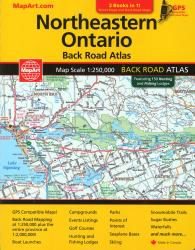 Northeastern Ontario Back Road Atlas & North Bay, Sudbury, Sault Ste. Marie Street Atlas by Canadian Cartographics Corporation