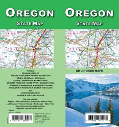 Oregon State Map by GM Johnson