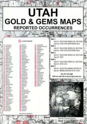 Utah, Gold and Gems, 5-Map Set, Then and Now by Northwest Distributors