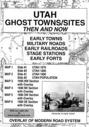 Utah, Ghost Towns and Sites, 6-Map Set, Then and Now by Northwest Distributors