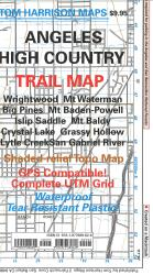 Angeles High Country Trail Map by Tom Harrison Maps