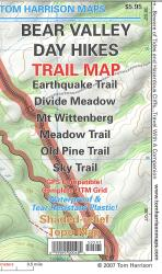 Bear Valley Day Hikes Trail Map by Tom Harrison Maps