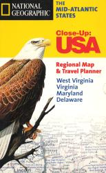 The Mid-Atlantic States: Close-Up USA Regional Map & Travel Planner by National Geographic Maps