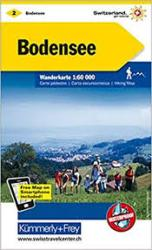 Bodensee : Switzerland Hiking Map #2 by Kummerly + Frey