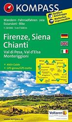 Firenze, Siena, Chianti hiking map by Kompass