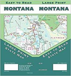 Montana Large Print Road Map by GM Johnson