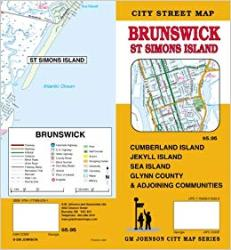 Brunswick, St. Simons Island, Jekyll Island, and Glynn County Street Map by GM Johnson