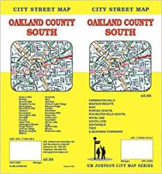 Oakland County South Street Map by GM Johnson