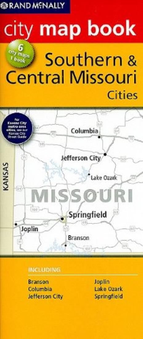 Southern Central Missouri City Map Book By Rand Mcnally