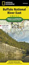 Buffalo National River, East, Arkansas, Map 233 by National Geographic Maps