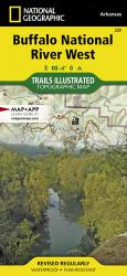 Buffalo National River, West, Arkansas, Map 232 by National Geographic Maps