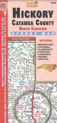 Hickory / Catawba County, North Carolina Road Map by Apple Valley Publishing