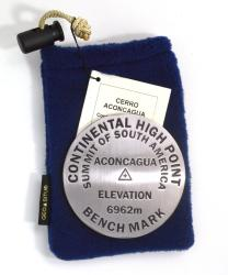 Cerro Aconcagua, South America high point benchmark paperweight by Geo-Situ