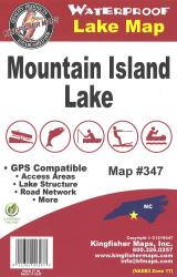 Mountain Island Waterproof Map by Kingfisher Maps, Inc.