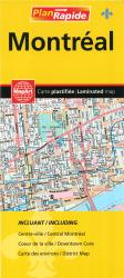 Montreal Laminated Street Map by Canadian Cartographics Corporation