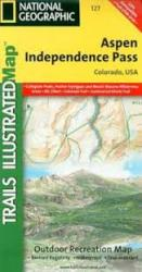 Aspen, Independence Pass, Colorado, Map 127 by National Geographic Maps