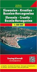 Slovenia, Croatia and Bosnia Herzegovina by Freytag und Berndt
