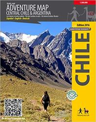 Central Chile Adventure Map by Trekking Chile