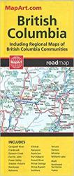 British Columbia Road Map by Canadian Cartographics Corporation
