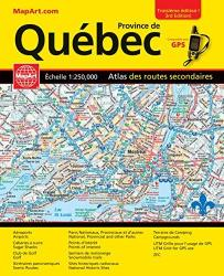 Quebec Back Road Atlas (French/English Edition) by Canadian Cartographics Corporation