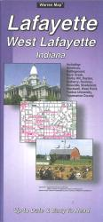Lafayette and West Lafayette, Indiana by The Seeger Map Company Inc.