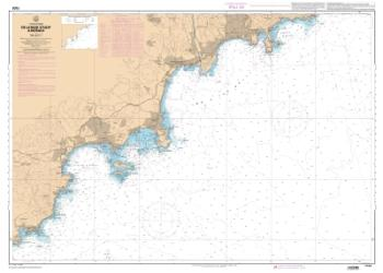 De la Rade d'Agay a Monaco nautical chart by SHOM