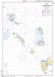 De Anguilla a la Guadeloupe nautical chart by SHOM