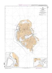Huahine nautical chart by SHOM