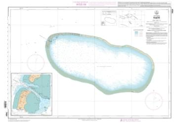 Faaite nautical chart by SHOM