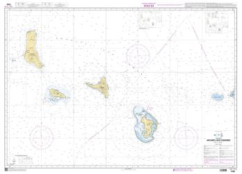 Archipel des Comores nautical chart by SHOM