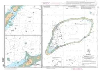 Ahe nautical chart by SHOM