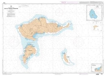 Hlva-Oa, Tahuata et Mohotani nautical chart by SHOM