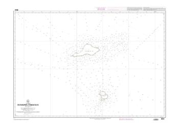 De Mururoa a Fangataufa nautical chart by SHOM