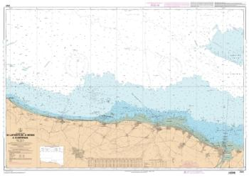 De la Pointe de La Percee a Ouistreham nautical chart by SHOM