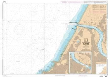Abords et port de Bayonne. Cours de I'Adour nautical chart by SHOM
