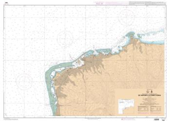 De la Passe de Taapuna a la Pointe Venus nautical chart by SHOM