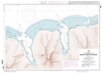 Baies de Cook et d'Opunohu nautical chart by SHOM