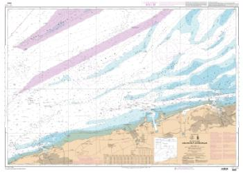 De Calais a Dunkerque nautical chart by SHOM