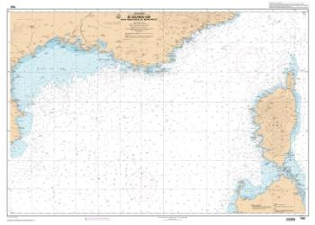Du Golfe du Lion aux Bouches de Bonifacio nautical chart by SHOM