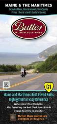 Maine and the Maritimes, Motorcycle Map by Butler Motorcycle Maps