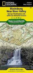 Blacksburg, New River Valley and Jefferson National Forest by National Geographic Maps