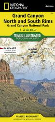 Grand Canyon : North & South Rims by National Geographic Maps