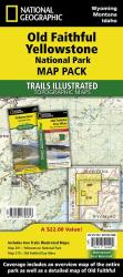Old Faithful Day Hikes Map Pack Bundle by National Geographic Maps