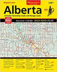 Alberta Back Road Atlas by Canadian Cartographics Corporation