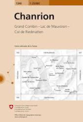 Chanrion Topographic Map by Swiss Topo